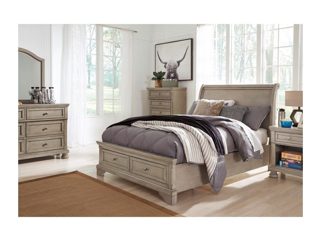 Signature Design by Ashley LettnerFull Sleigh Storage Bed