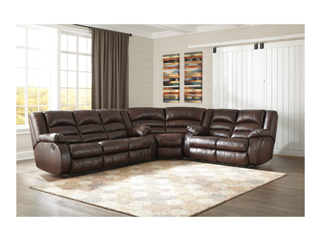 Signature Design by Ashley Levelland3-Piece Reclining Sectional