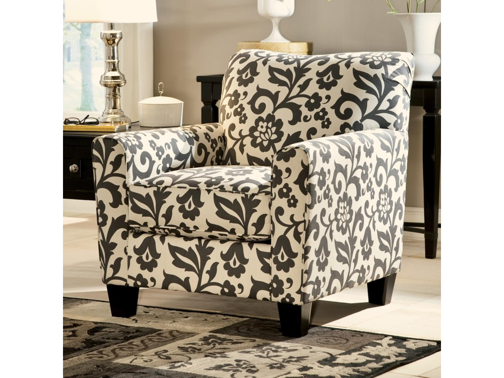 Signature Design by Ashley Levon - Charcoal Accent Chair in Floral ...
