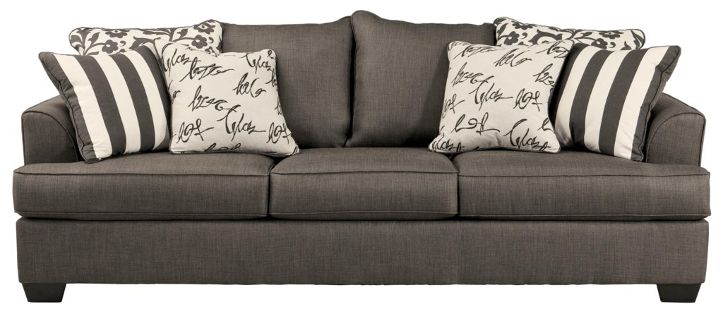 Signature Design By Ashley Levon Charcoal Queen Sofa Sleeper  ~ Sofa Sleepers With Memory Foam Mattress