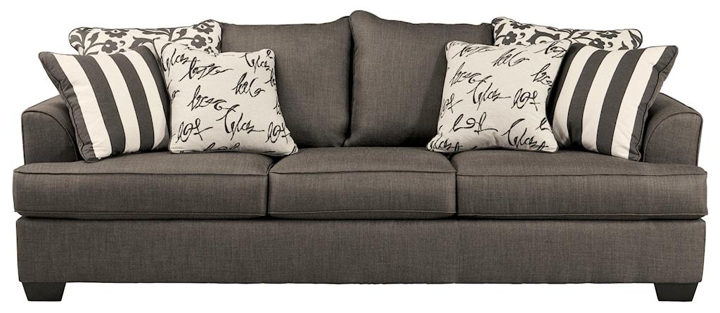 Signature Design by Ashley Levon Charcoal Queen Sofa Sleeper