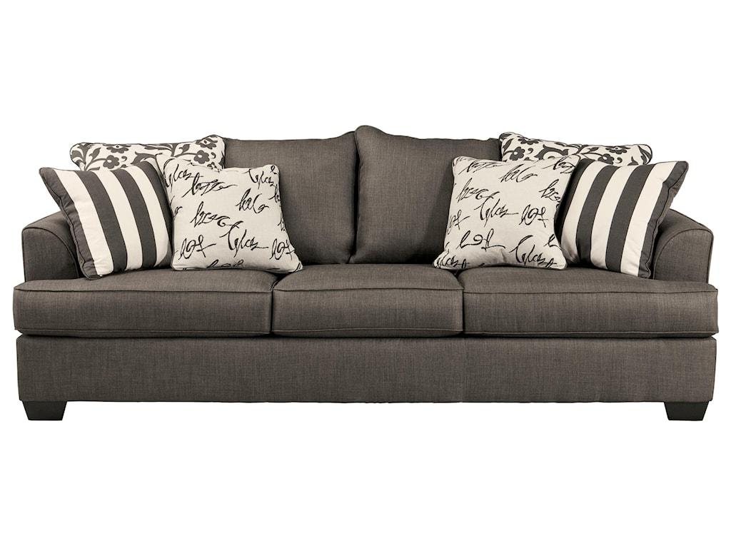 Signature Design by Ashley Levon - CharcoalQueen Sofa Sleeper