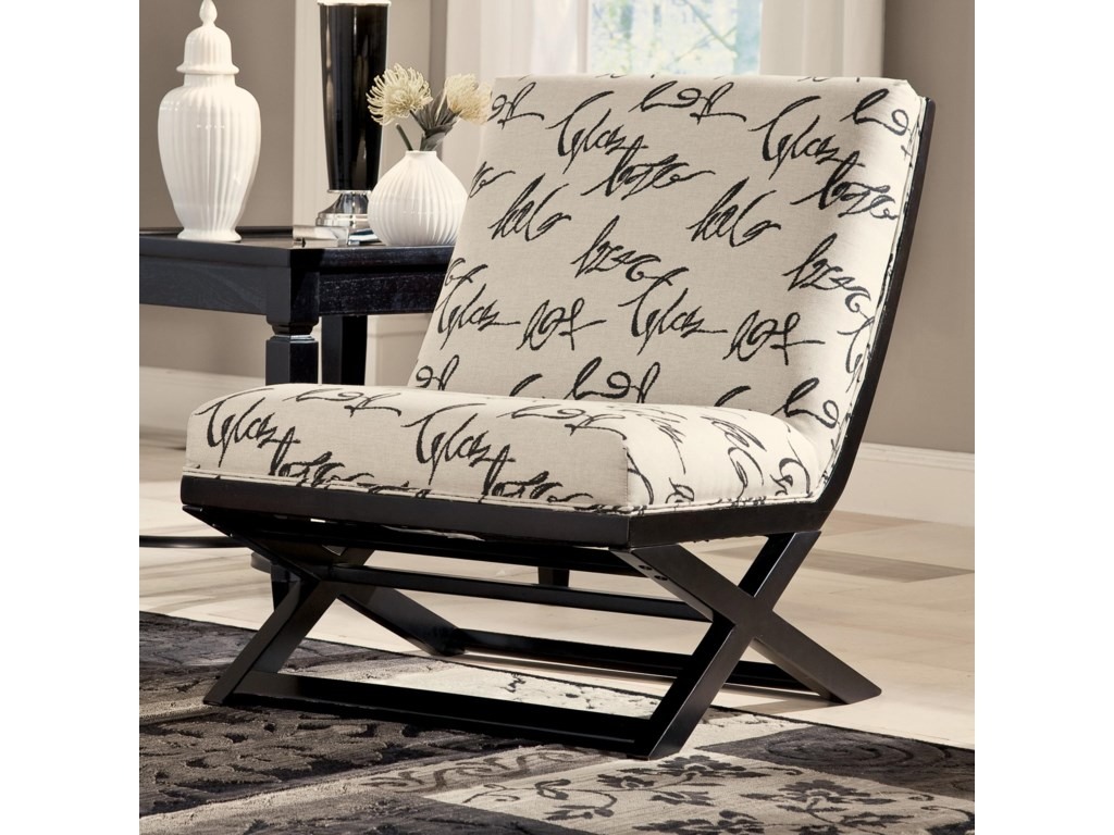 Signature Design by Ashley Levon  - CharcoalShowood Accent Chair