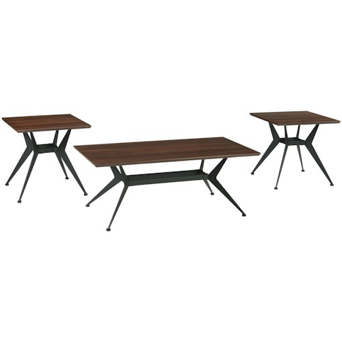 Signature Design by Ashley Liamburg Contemporary Three Piece Occasional Table Set
