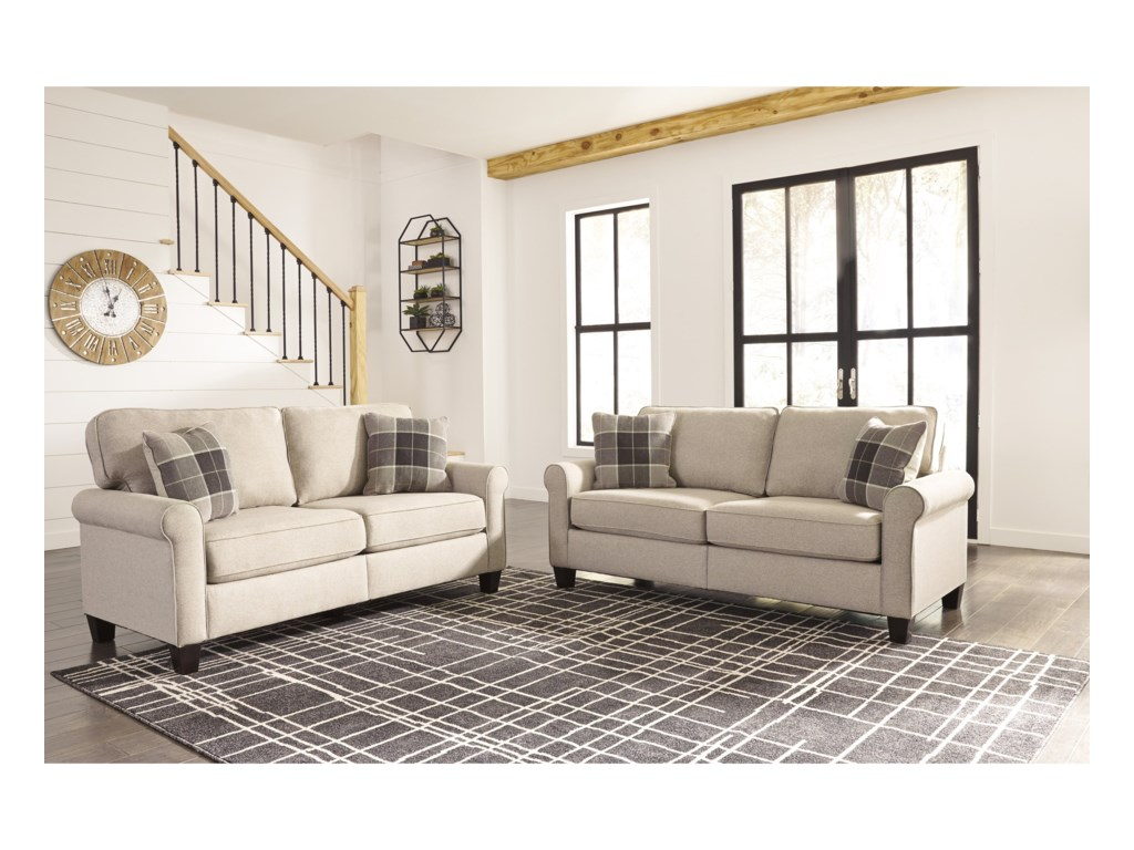 Signature Design by Ashley Lingen Stationary Living Room Group ...