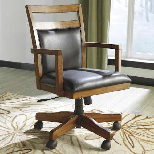 Signature Design by Ashley Lobink Home Office Desk Chair with Cutout Detail