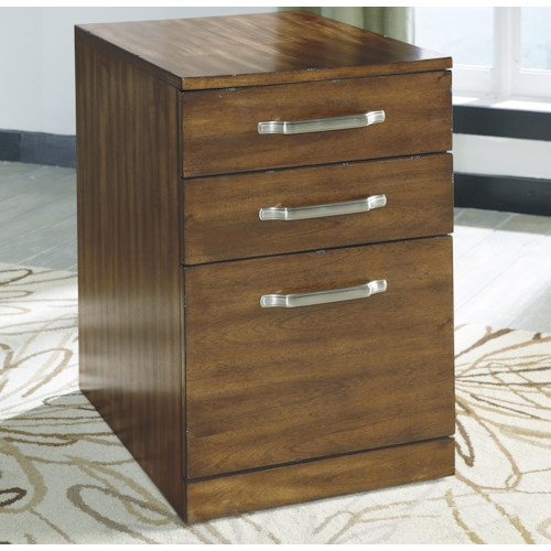 Signature Design by Ashley Lobink Contemporary Wood File Cabinet