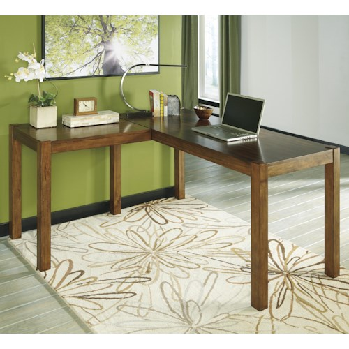 Signature Design by Ashley Lobink Contemporary L-Desk