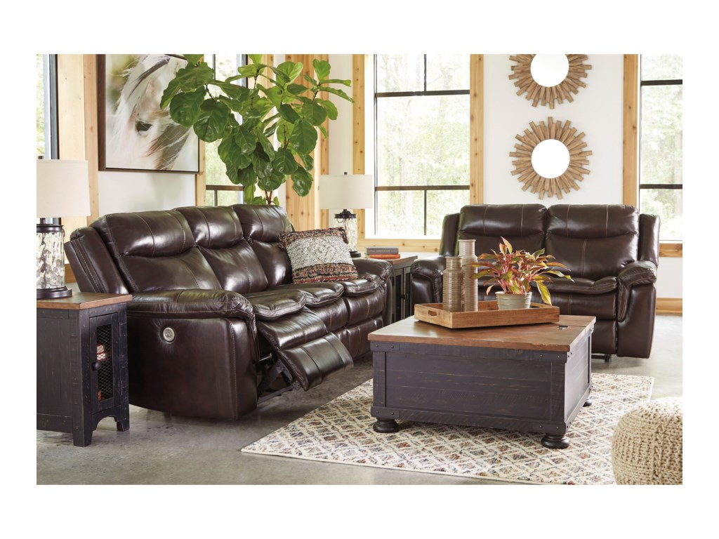 Signature Design LockesburgPower Reclining Living Room Group