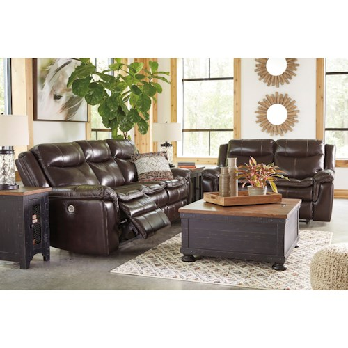 Signature Design by Ashley Lockesburg Power Reclining Living Room Group