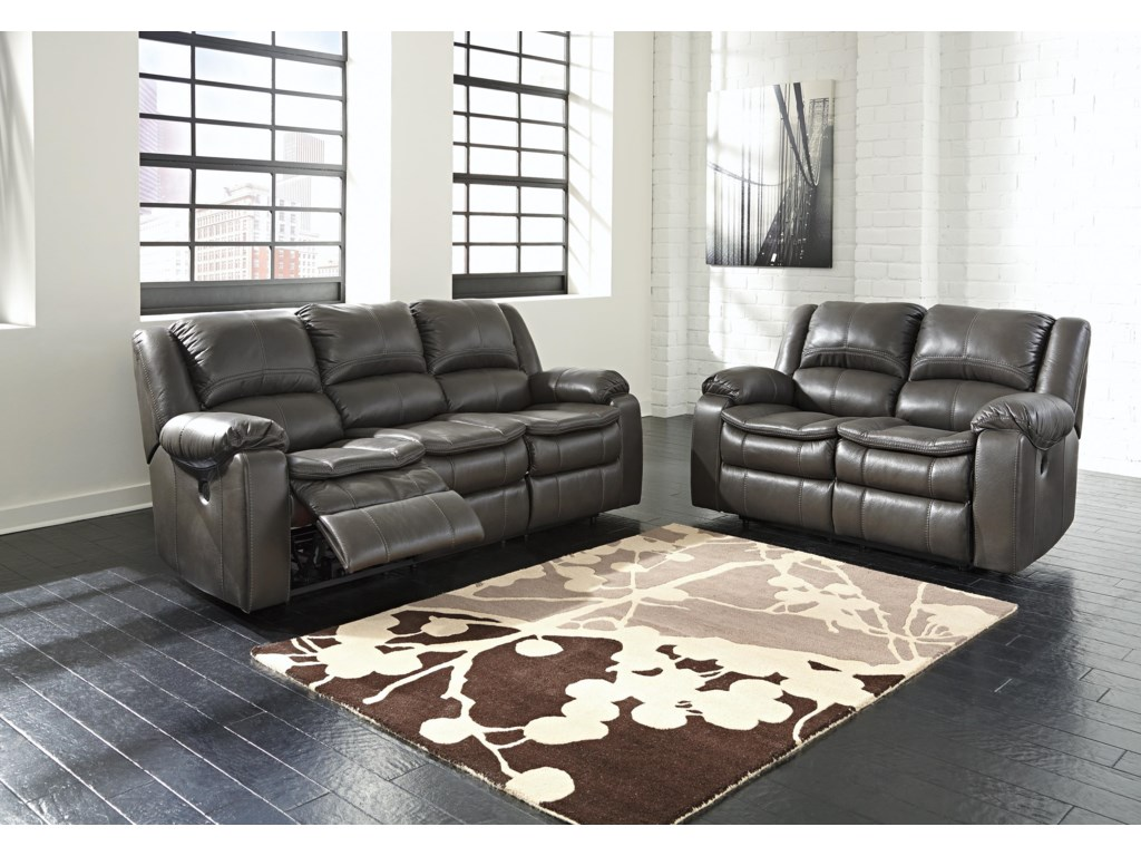 Signature Design by Ashley Long KnightReclining Power Loveseat