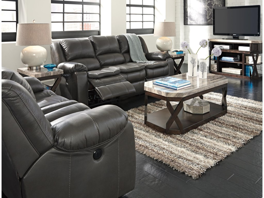 Ashley (Signature Design) Long KnightReclining Power Loveseat