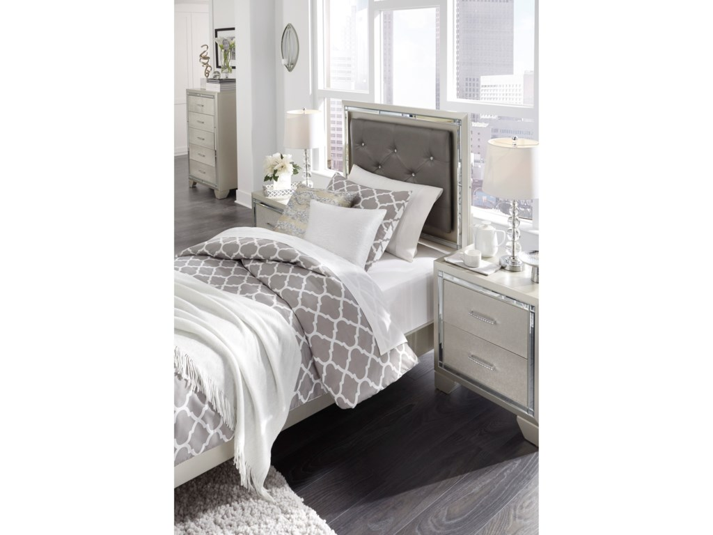 Signature Design by Ashley LonnixUpholstered Twin Bed