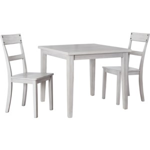 Ashley Signature Design Loratti 3 Piece Square Dining Table Set Rooms And Rest Dining 3 Piece Sets