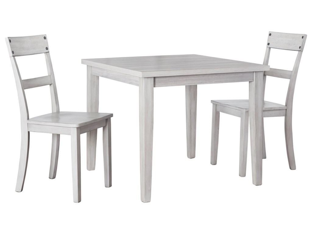 Signature Design By Ashley Loratti 3 Piece Square Dining Table Set Royal Furniture Dining 3 Piece Sets