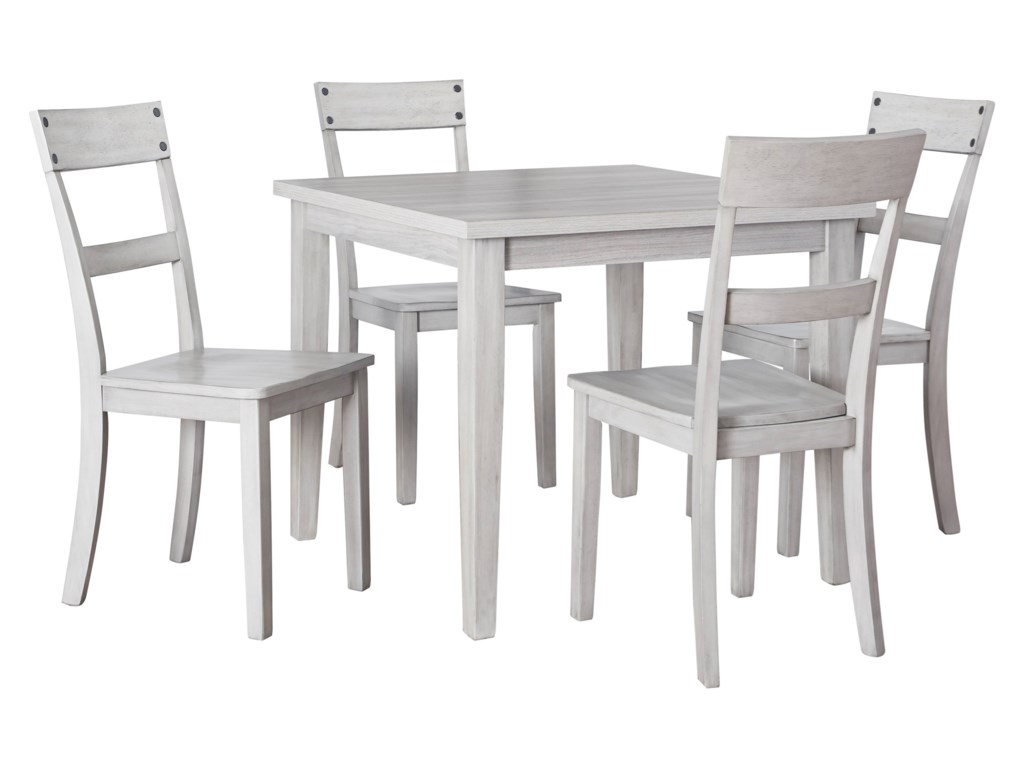 Signature Design By Ashley Loratti 5 Piece Square Dining Table Set Sam Levitz Furniture Dining 5 Piece Sets