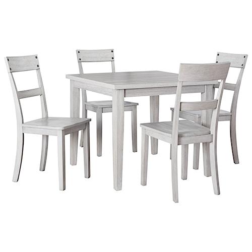 Signature Design by Ashley Loratti 5-Piece Square Dining Table Set