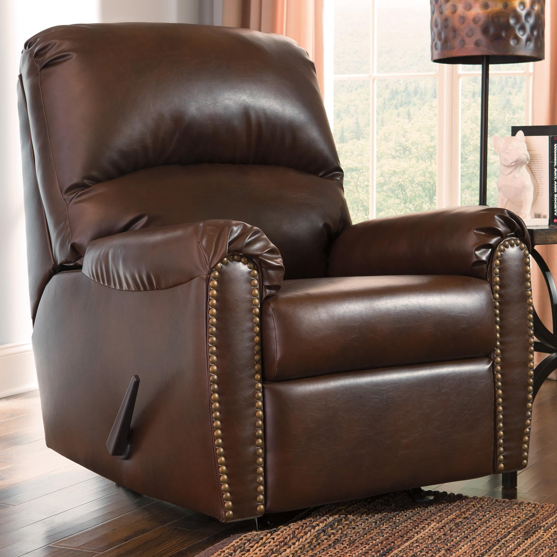 Signature Design by Ashley Lottie DuraBlend® Transitional Bonded Leather Match Rocker Recliner with Nailhead Trim & Signature Design by Ashley Lottie DuraBlend® Transitional Bonded ... islam-shia.org