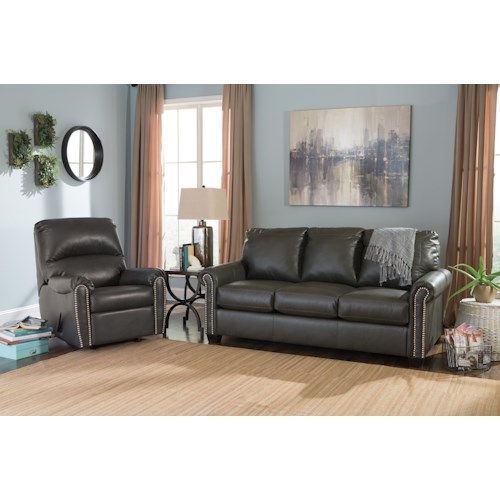 Signature Design By Ashley Lottie Durablend Stationary Living Room Group Value City Furniture