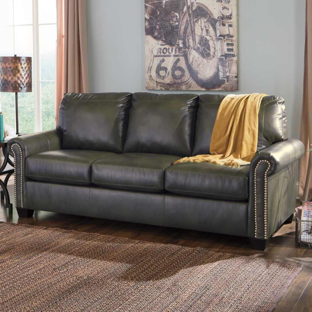 Signature Design By Ashley Lottie Durablend 3800139 Transitional  ~ Queen Sofa Sleeper Leather