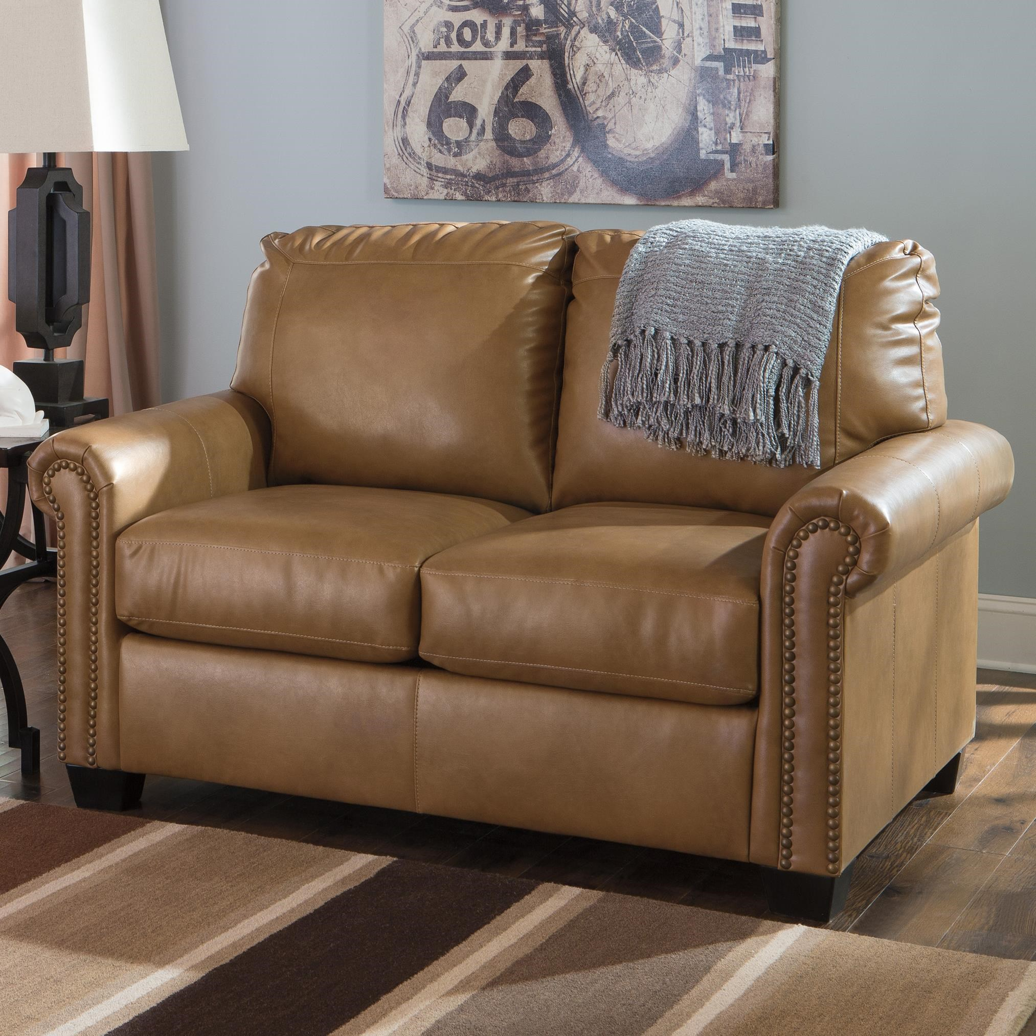 signature design by ashley lottie durablend transitional bonded rh wayside furniture com trent leather twin sleeper sofa trent leather twin sleeper sofa