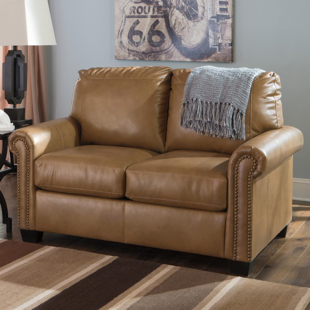 Signature Design By Ashley Lottie Durablend Transitional Bonded  ~ Leather Twin Sofa Sleeper