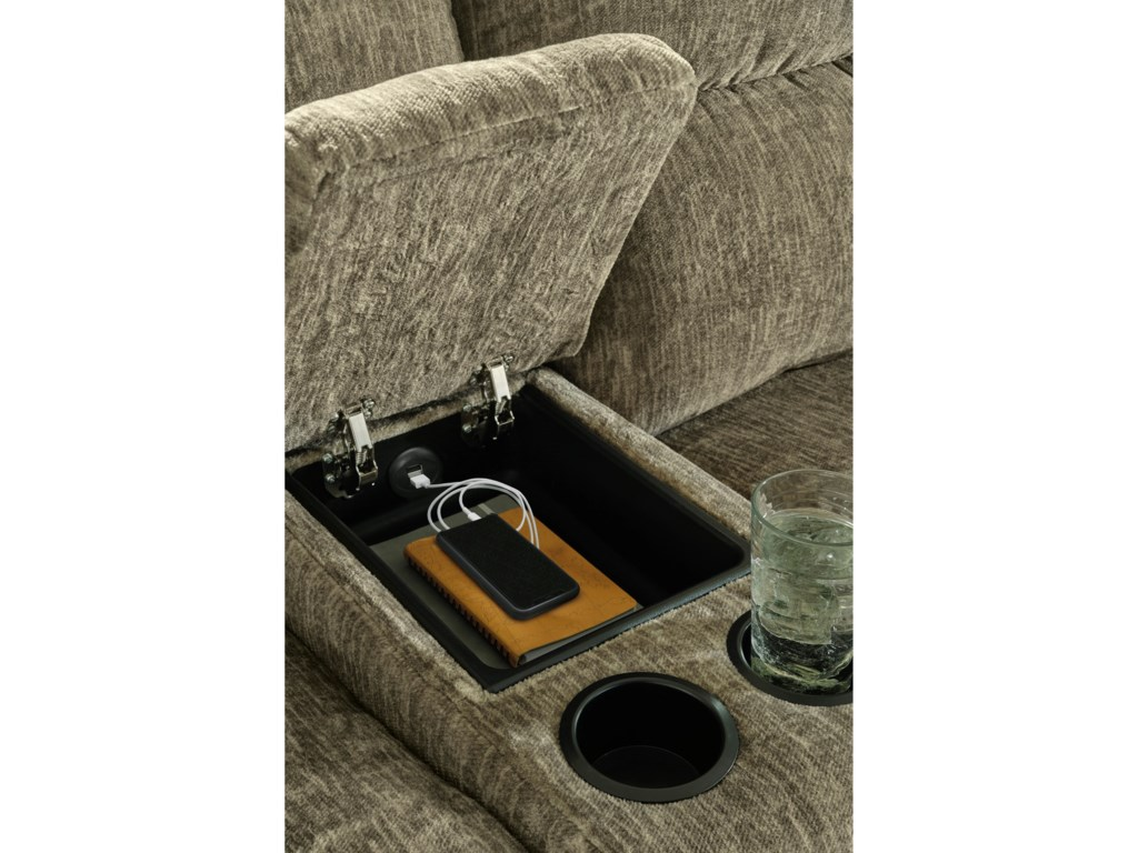 Signature Design by Ashley LubecPower Reclining Loveseat with Console