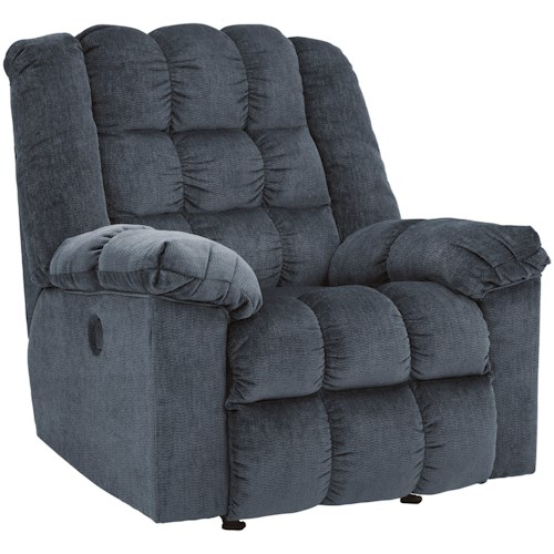 Signature Design by Ashley Ludden - Blue Power Rocker Recliner