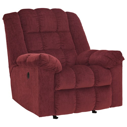 Signature Design by Ashley Ludden - Burgundy Power Rocker Recliner