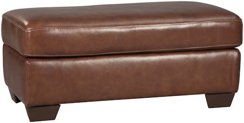 Signature Design by Ashley Lugoro Leather Match Rectangular Ottoman
