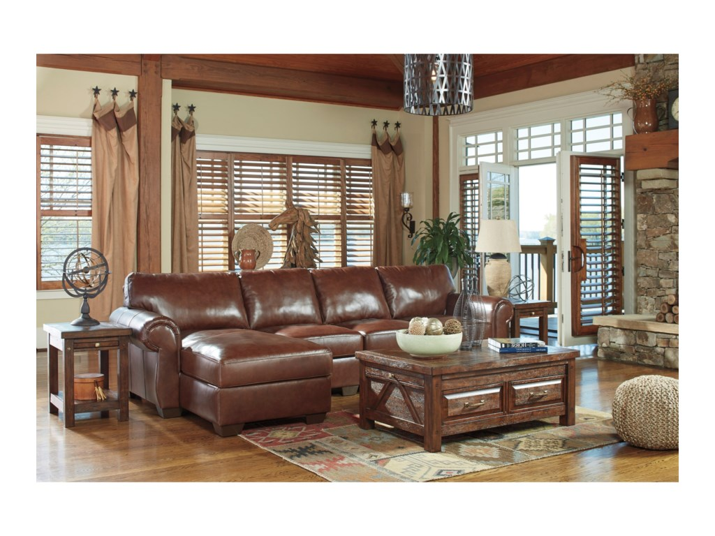 Ashley (Signature Design) Lugoro3-Piece Sectional with Left Chaise