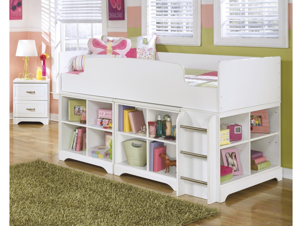 Signature Design by Ashley LuluTwin Loft Bed with Loft Bin Storage
