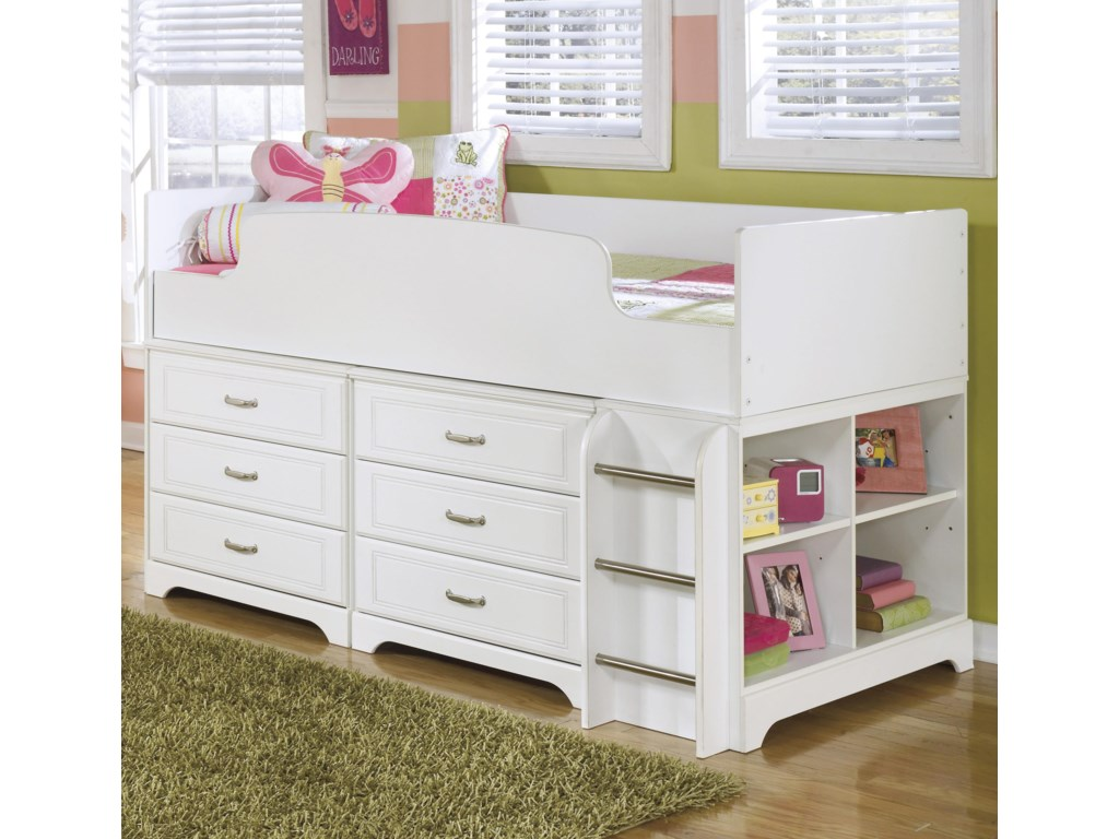 Benchcraft LuluTwin Loft Bed w/ Loft Drawer Storage
