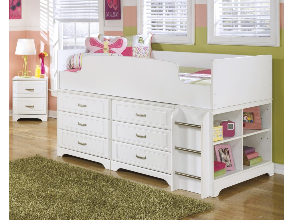 Signature Design by Ashley LuluTwin Loft Bed w/ Loft Drawer Storage