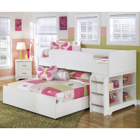 Twin Loft Bed with Full Loft Caster Bed