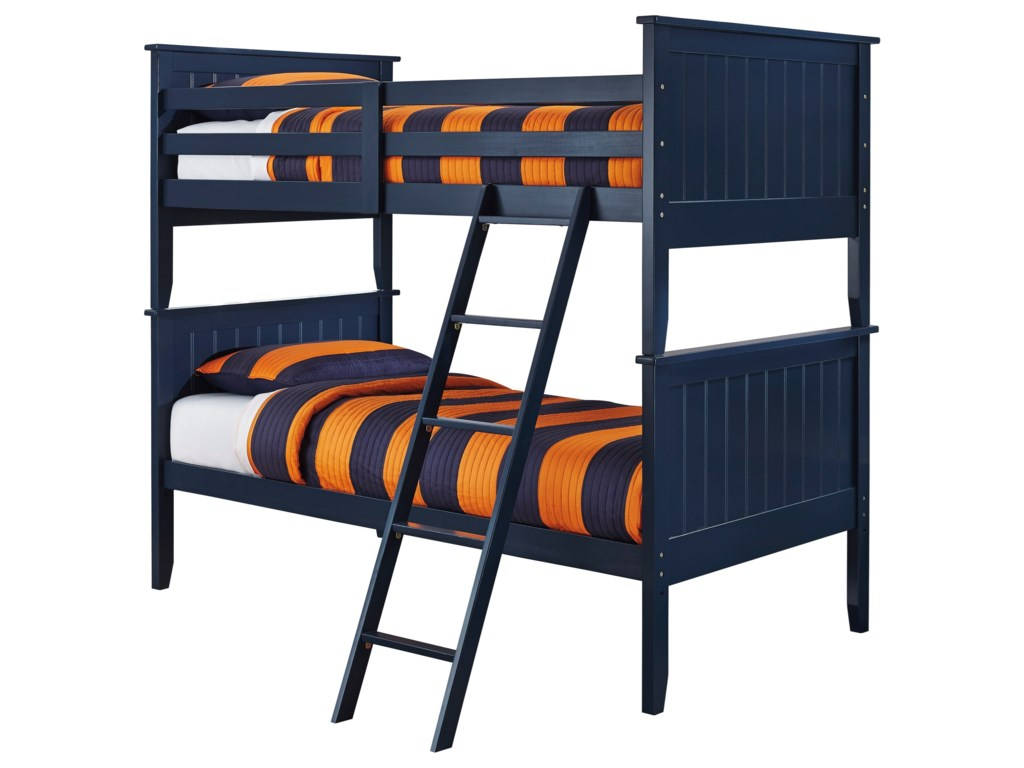 Signature Design By Ashley Leo Twin Twin Bunk Bed Royal Furniture