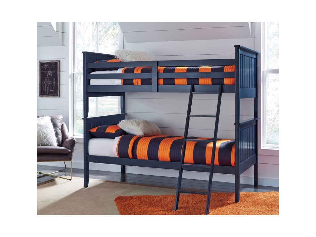 Signature Design By Ashley Leo Twin Twin Bunk Bed Becker Furniture
