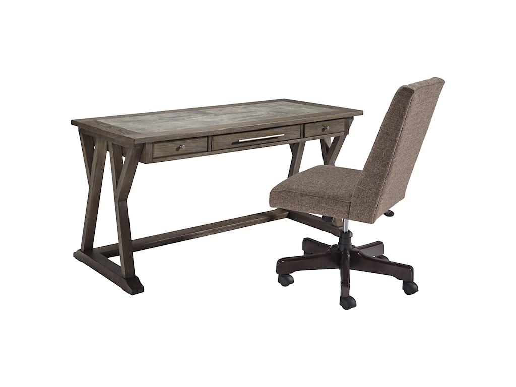 Ashley (Signature Design) LuxenfordHome Office Large Leg Desk