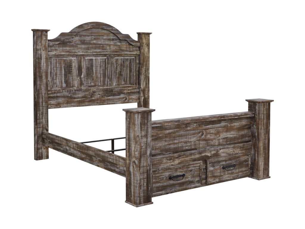 Signature Design by Ashley LynntonQueen Poster Bed w/ Storage