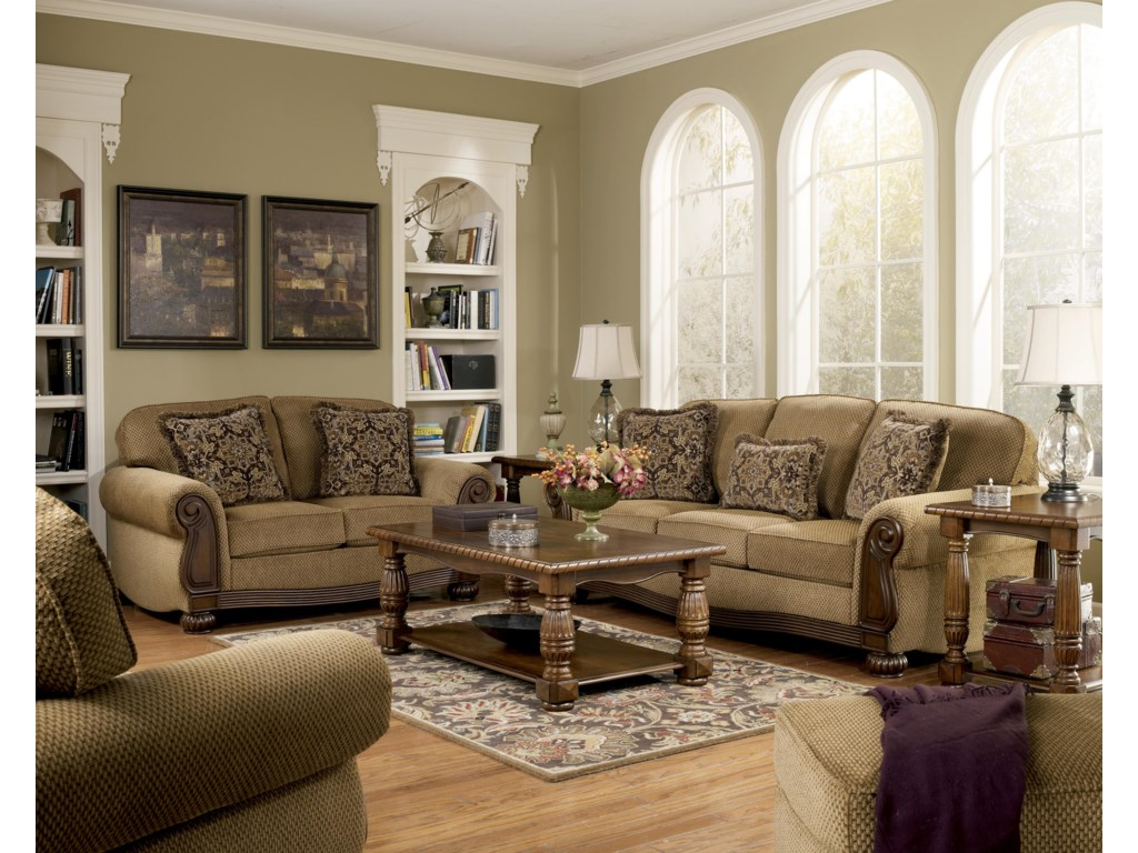 Shown with Chair, Sofa, and Ottoman