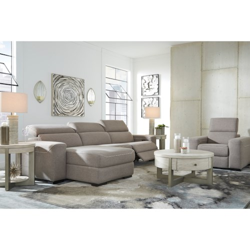 Signature Design by Ashley Mabton Power Reclining Living Room Group