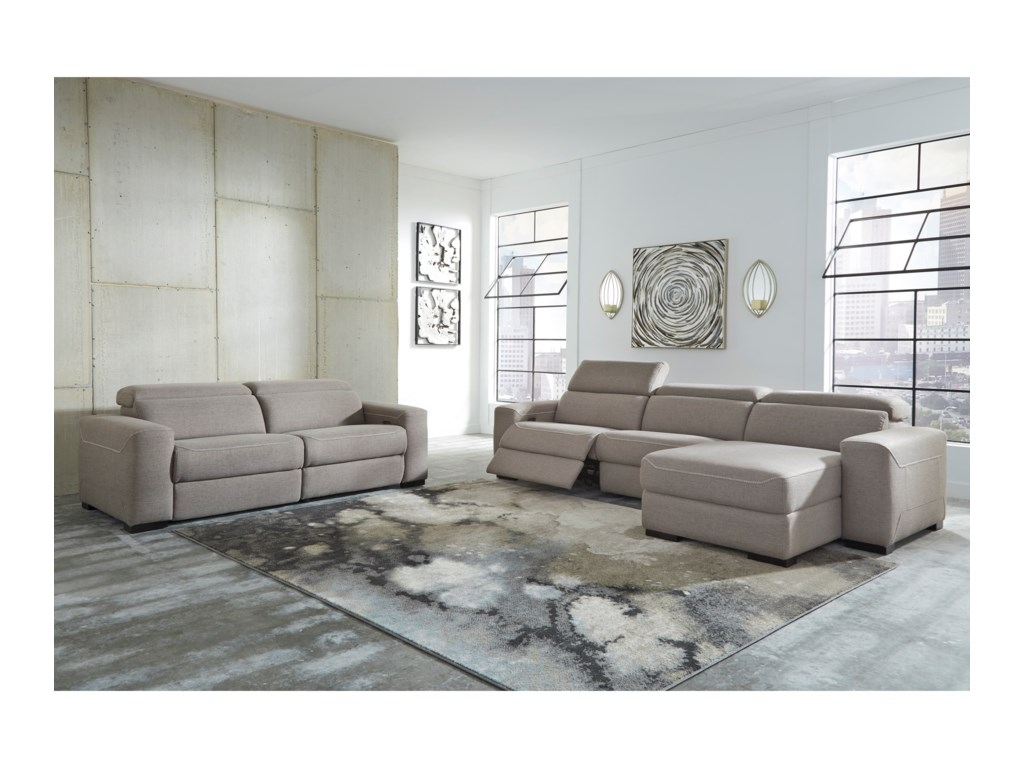 Signature Design by Ashley MabtonPower Reclining Living Room Group