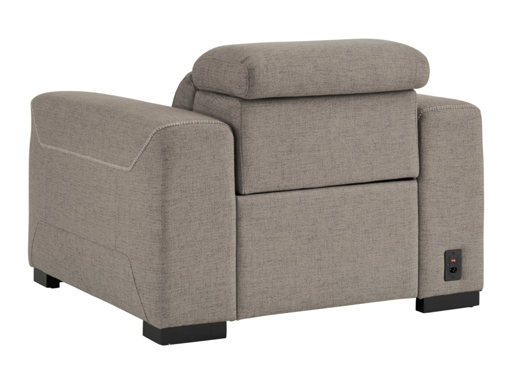 Signature Design by Ashley MabtonPower Recliner w/ Adj. Headrest