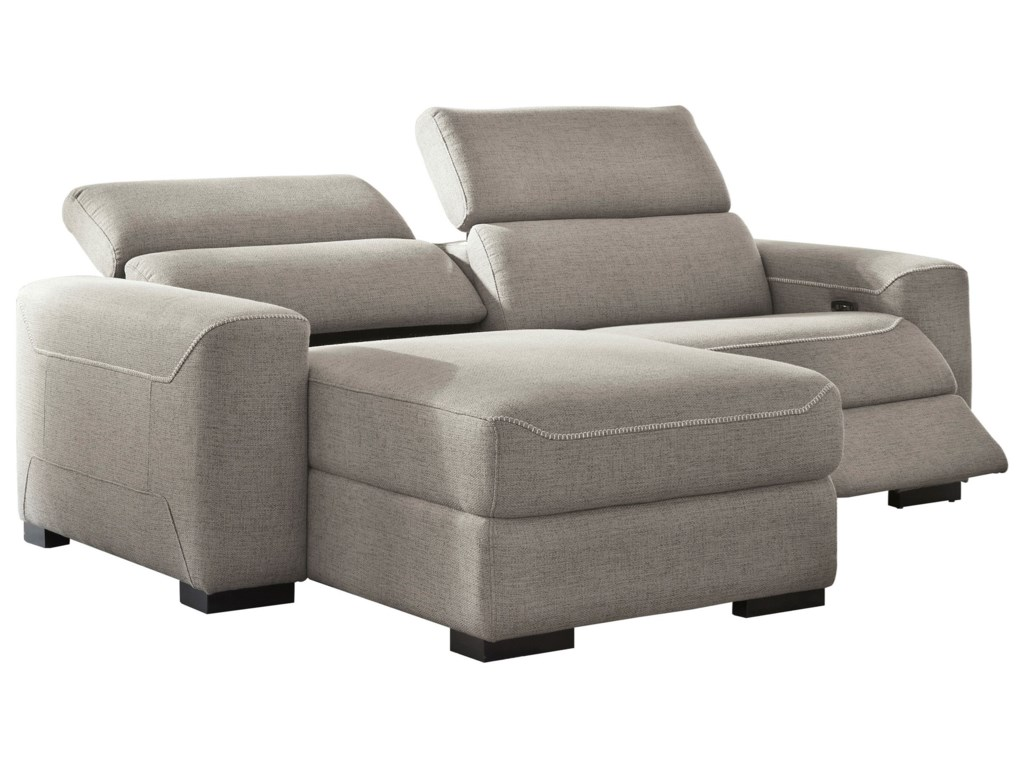 Signature Design by Ashley Mabton2-Piece Power Reclining Sectional w/ Chaise