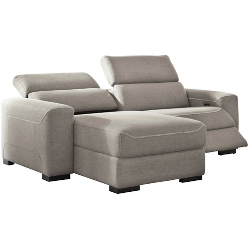 Signature Design by Ashley Mabton 2-Piece Power Reclining Sectional w/ Chaise
