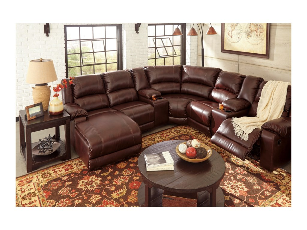 Signature Design by Ashley MacGrath DuraBlend®Reclining Sectional