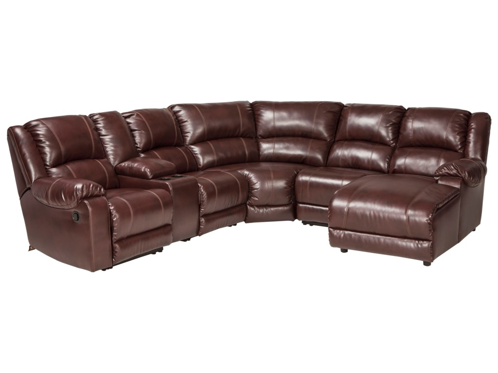 Signature Design By Ashley Macgrath Durablend Reclining Sectional
