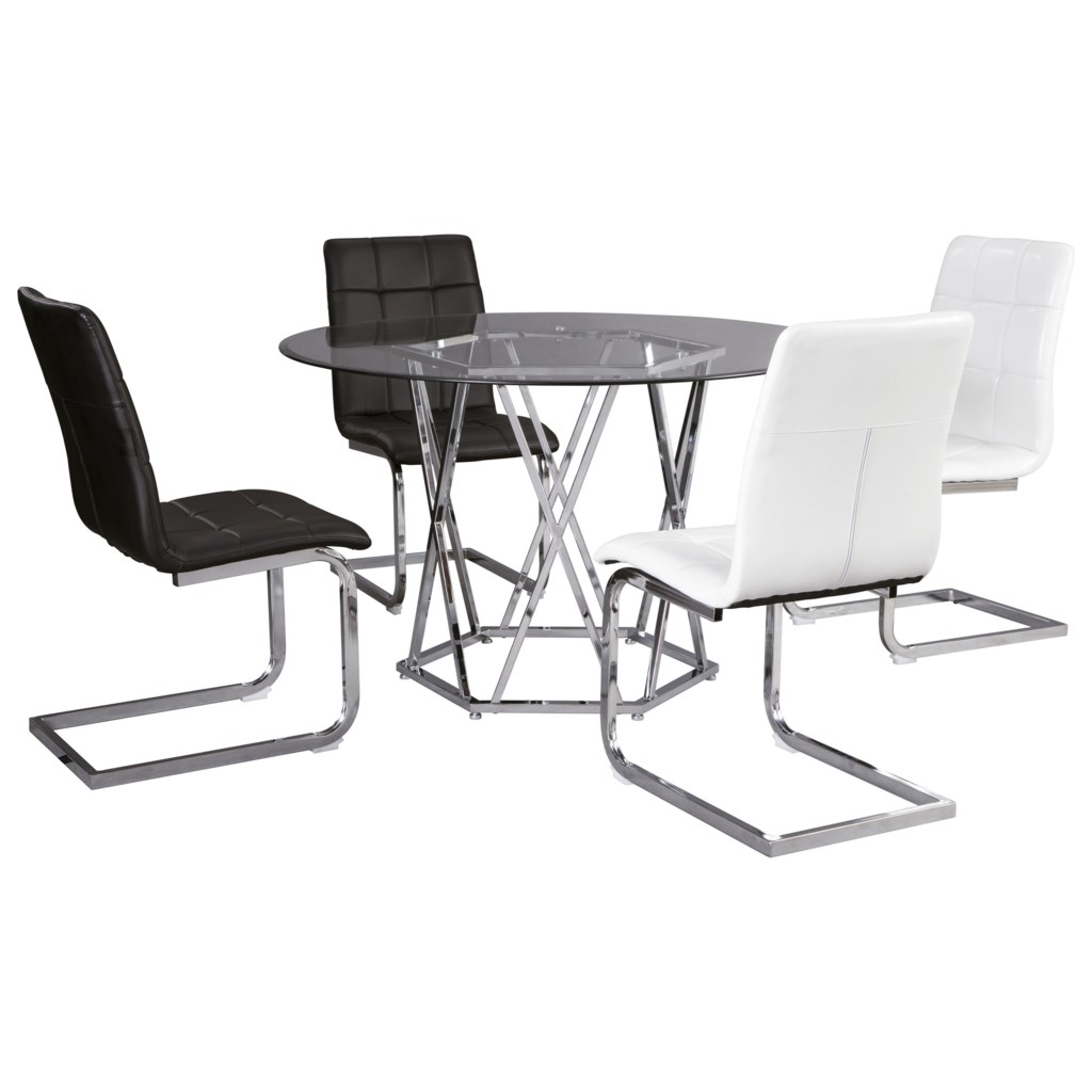 Signature Design By Ashley Madanere Contemporary 5 Piece Dining Set
