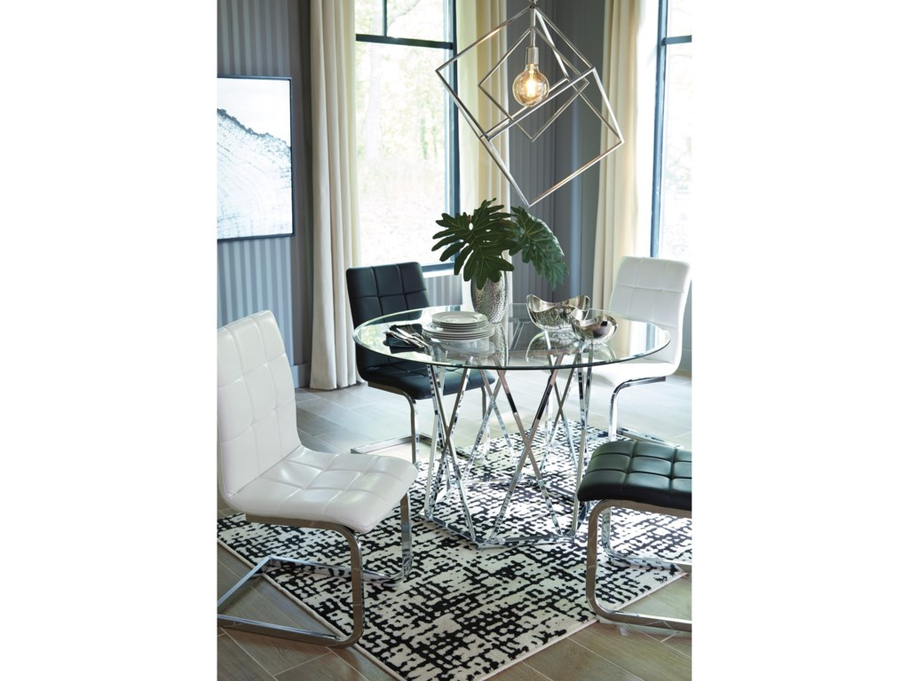 Signature Design by Ashley Madanere Round Dining Room Table