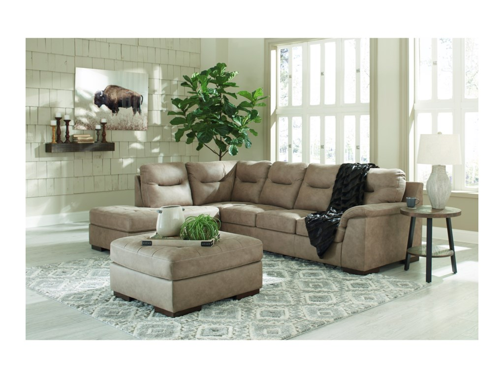 Signature Design by Ashley Maderla2-Piece Sectional with Chaise